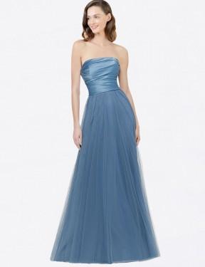 Shop A-Line Long Donna Bridesmaid Dress Canada
