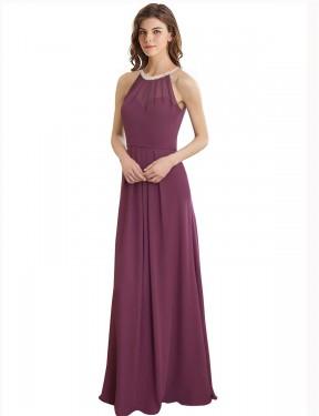 Shop A-Line Long Navid Bridesmaid Dress Canada