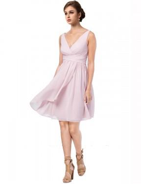 Shop A-Line Short Remy Bridesmaid Dress Canada