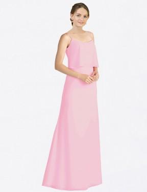 Shop Barely Pink A-Line Long Kaylin Bridesmaid Dress Canada
