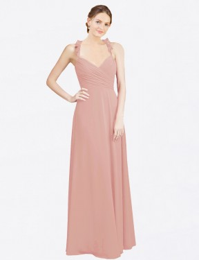 Shop Bliss A-Line Long Dana Bridesmaid Dress Canada