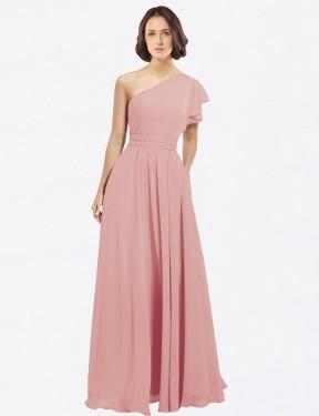 Shop Bliss A-Line Long Josephine Bridesmaid Dress Canada