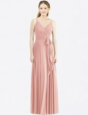 Shop Bliss A-Line Long Madilyn Bridesmaid Dress Canada