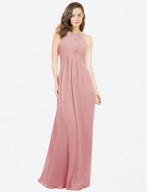 Shop Bliss A-Line Long Robyn Bridesmaid Dress Canada