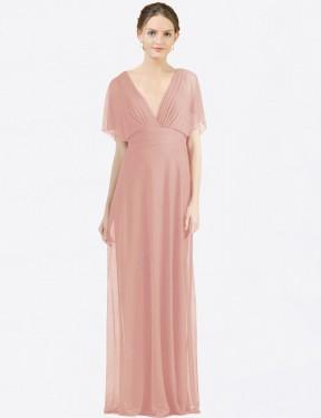 Shop Bliss A-Line Long Zion Bridesmaid Dress Canada