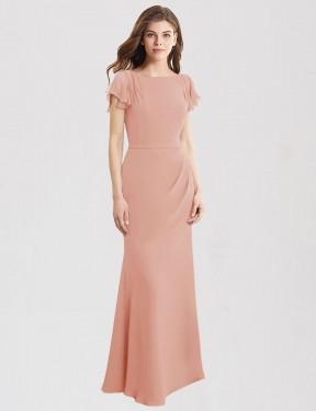 Shop Bliss Mermaid Long Correa Bridesmaid Dress Canada