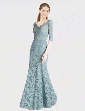 Shop Blue A-Line Long Jaylene Bridesmaid Dress Canada