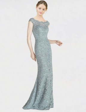 Shop Blue Mermaid Fit and Flare Long Kai Bridesmaid Dress Canada