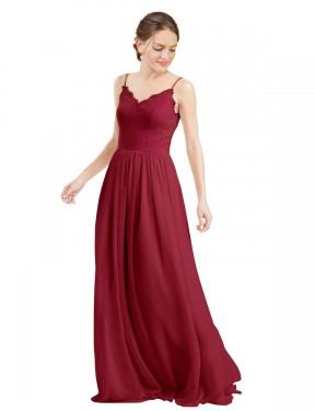 Shop Burgundy A-Line Long Camila Bridesmaid Dress Canada