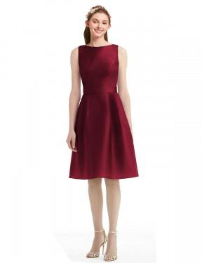 Shop Burgundy A-Line Short Addilyn Bridesmaid Dress Canada