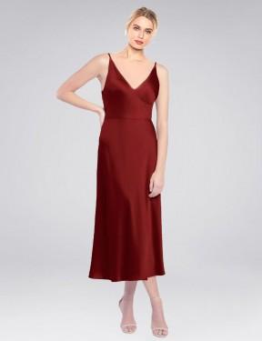 Shop Burgundy A-Line Short Lane Bridesmaid Dress Canada