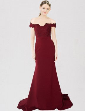 Shop Burgundy Gold Mermaid Long Dawn Bridesmaid Dress Canada