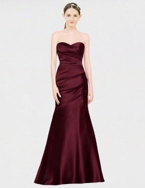 Shop Burgundy Mermaid Long Alyson Bridesmaid Dress Canada