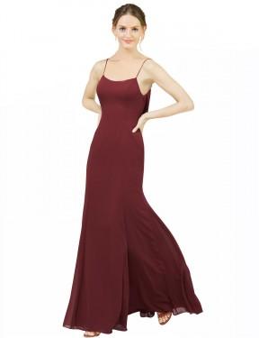 Shop Burgundy Mermaid Long Estella Bridesmaid Dress Canada