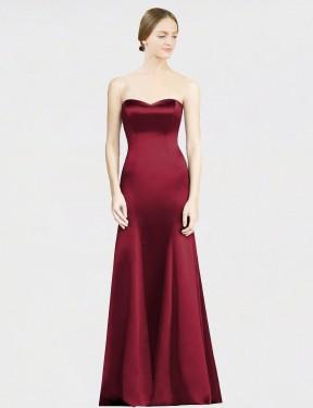 Shop Burgundy Mermaid Long Miranda Bridesmaid Dress Canada