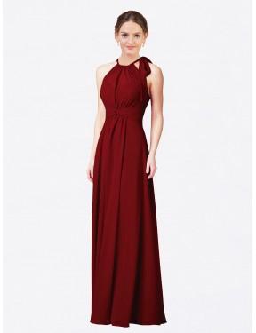 Shop Burgundy Sheath Long Alejandra Bridesmaid Dress Canada