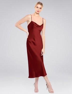 Shop Burgundy Short Icaza Bridesmaid Dress Canada