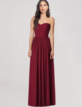 Shop Burgundy Trumpet Long Bethlehem Bridesmaid Dress Canada