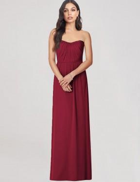 Shop Burgundy Trumpet Long Chasity Bridesmaid Dress Canada