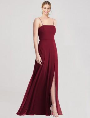 Shop Burgundy Trumpet Long Riggs Bridesmaid Dress Canada