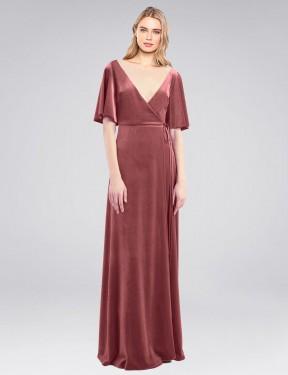 Shop Cinnamon Rose A-Line Long Dreher Bridesmaid Dress Canada
