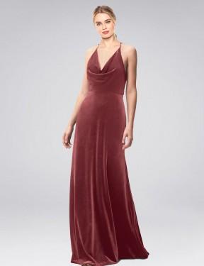 Shop Cinnamon Rose A-Line Long Kwete Bridesmaid Dress Canada