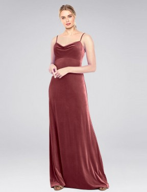 Shop Cinnamon Rose A-Line Long Saliba Bridesmaid Dress Canada