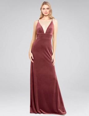 Shop Cinnamon Rose A-Line Long Sammi Bridesmaid Dress Canada