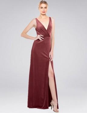 Shop Cinnamon Rose A-Line Long Scotti Bridesmaid Dress Canada