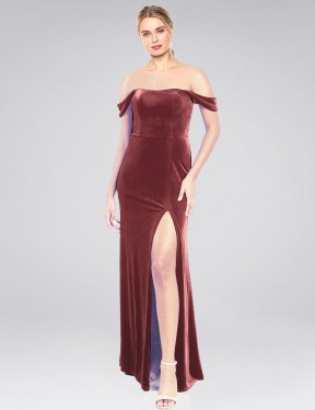 Shop Cinnamon Rose A-Line Long Zelaya Bridesmaid Dress Canada