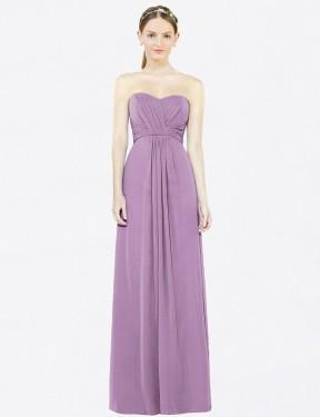 Shop Dark Lavender A-Line Long Kylee Bridesmaid Dress Canada