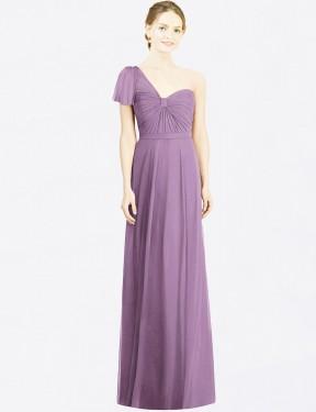 Shop Dark Lavender A-Line Long Ryann Bridesmaid Dress Canada