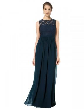 Shop Dark Navy A-Line Long Alice Bridesmaid Dress Canada