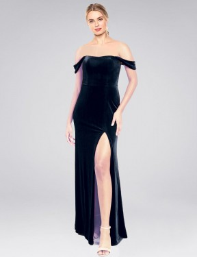 Shop Dark Navy A-Line Long Zelaya Bridesmaid Dress Canada