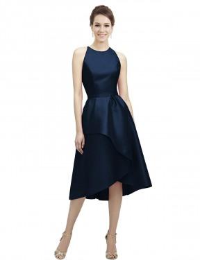 Shop Dark Navy A-Line Short Wren Bridesmaid Dress Canada