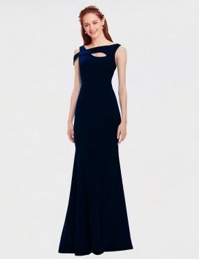 Shop Dark Navy Mermaid Long Cristina Bridesmaid Dress Canada