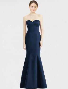 Shop Dark Navy Mermaid Long Kaia Bridesmaid Dress Canada