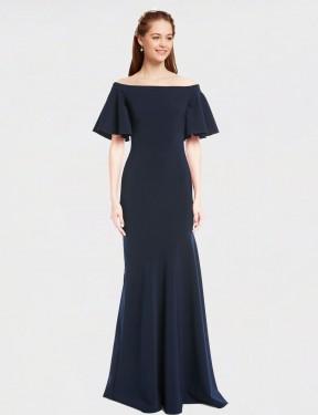 Shop Dark Navy Mermaid Long Kamela Bridesmaid Dress Canada