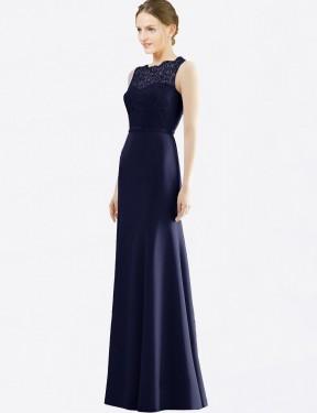 Shop Dark Navy Mermaid Long Kathryn Bridesmaid Dress Canada