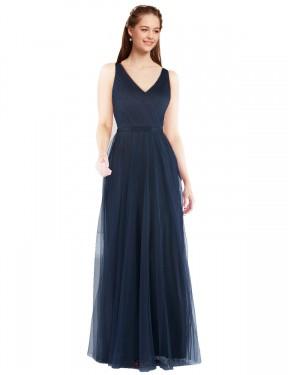 Shop Dark Navy Sheath Long Renee Bridesmaid Dress Canada