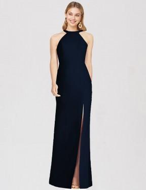 Shop Dark Navy Trumpet Long Alisa Bridesmaid Dress Canada