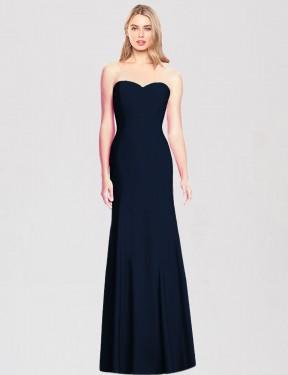 Shop Dark Navy Trumpet Long Alora Bridesmaid Dress Canada