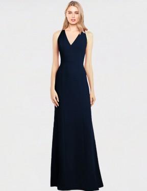 Shop Dark Navy Trumpet Long Emerald Bridesmaid Dress Canada