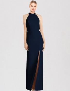 Shop Dark Navy Trumpet Long Florence Bridesmaid Dress Canada
