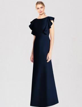 Shop Dark Navy Trumpet Long Miya Bridesmaid Dress Canada