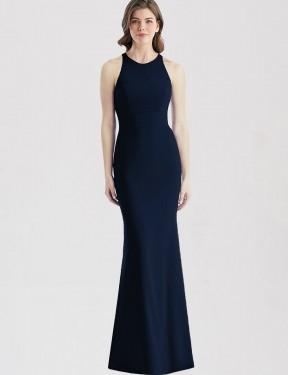 Shop Dark Navy Trumpet Long Zendaya Bridesmaid Dress Canada
