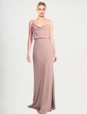 Shop Dusty Pink Sheath Long Castro Bridesmaid Dress Canada