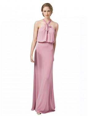Shop Dusty Pink Sheath Long Estelle Bridesmaid Dress Canada