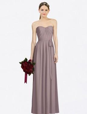 Shop Dusty Rose A-Line Long Felicity Bridesmaid Dress Canada