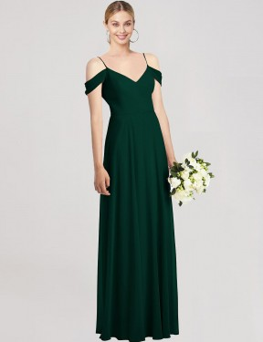 Shop Ever Green A-Line Long Selma Bridesmaid Dress Canada